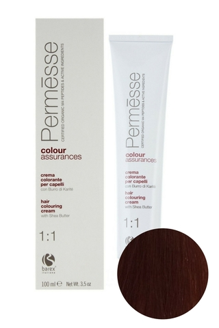 Крем-краска для волос 6.4 Темный блондин медный Permesse, Barex
