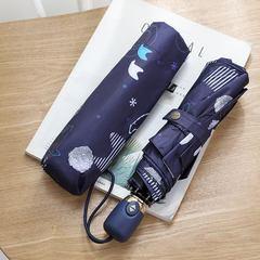 Женский облегченный зонт, с защитой от УФ, 8 спиц (синий)