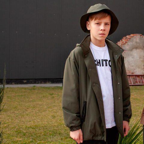 Подростковая парка на мальчика хаки