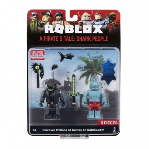 Игровая коллекционная фигурка Jazwares Roblox Game Packs A Pirate's Tale: Shark People W7