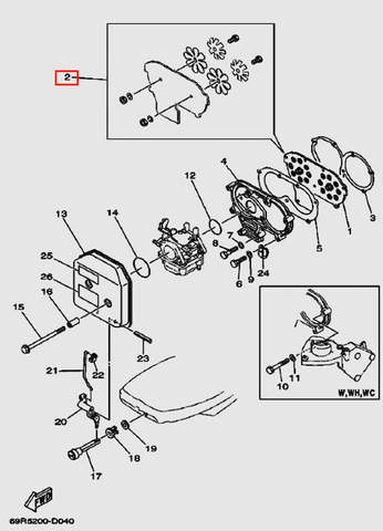 Клапан впускной в сборе для лодочного мотора Т30 Sea-PRO (4-2)