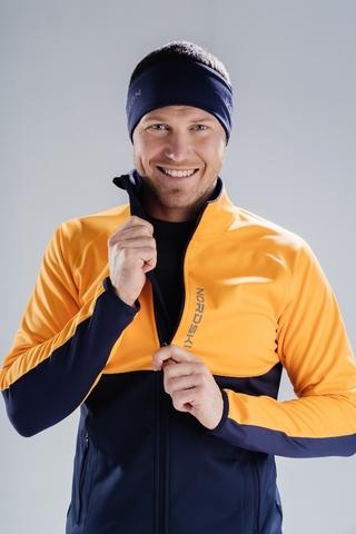 Разминочная куртка Nordski Premium Orange/Blueberry мужская