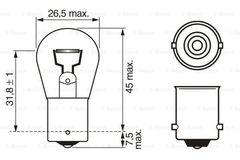 Лампочка поворотников МАН/Мерседес 21 ватт 24 вольт  Лампа стоп сигнала и указателя поворота МАН/MAN  Производитель BOSCH   MAN OEM - 81259010075   Реализация (IAM) 1987302501   Наименование Лампа накаливания, Trucklight  Формула типа 24V 21W P21W TRUCKLIGHT  Краткое торг. обознач. (HKB) P21W  Исполнение гнезда BA15s  Номинальная мощность в Вт 21  Вид ламп P21W  Номинальное напряжение 24 V