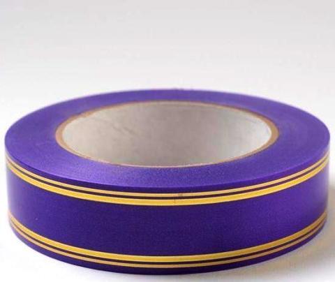 Лента золотая полоса PL (размер: 2 см х 50 ярдов) Цвет: фиолетовый