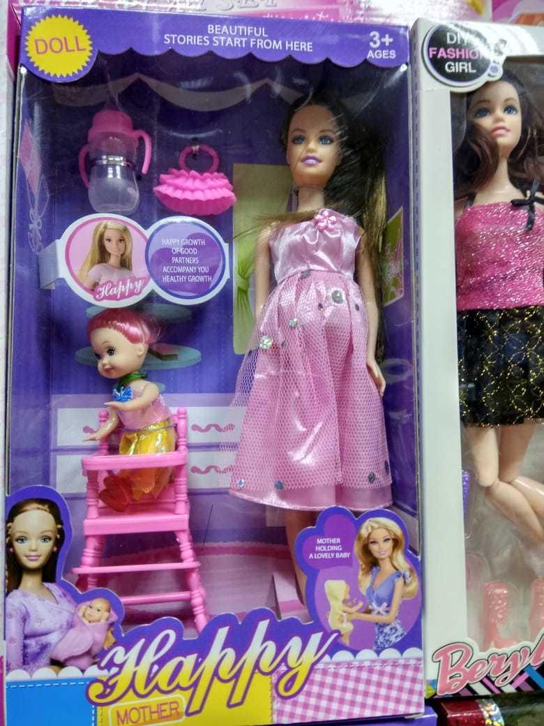 Набор кукол мама и дочка с принадлежностями для мам