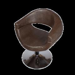 Парикмахерское кресло МД-108 гидравлика хром, круг хром