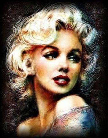Картина раскраска по номерам 40x50 Мерлин Монро