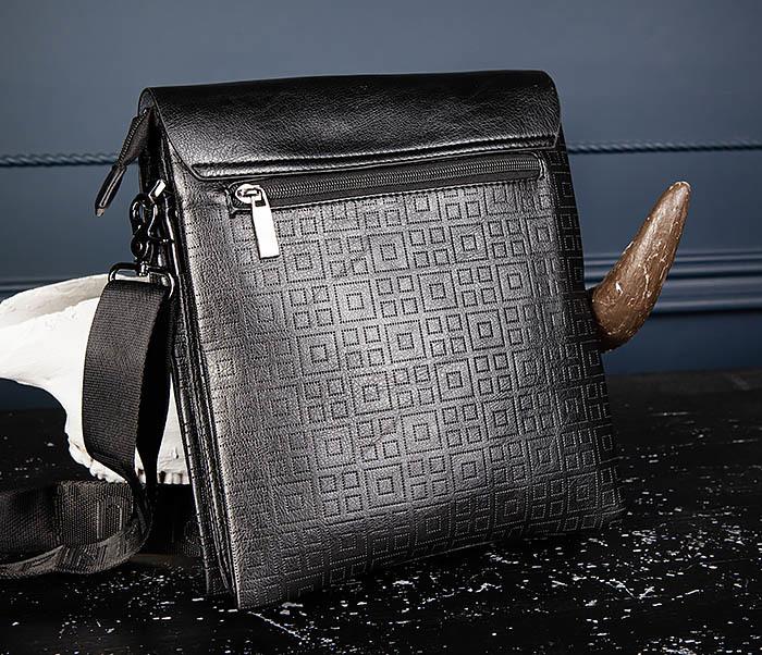 BAG559-1-2 Кожаная сумка планшет для города фото 08