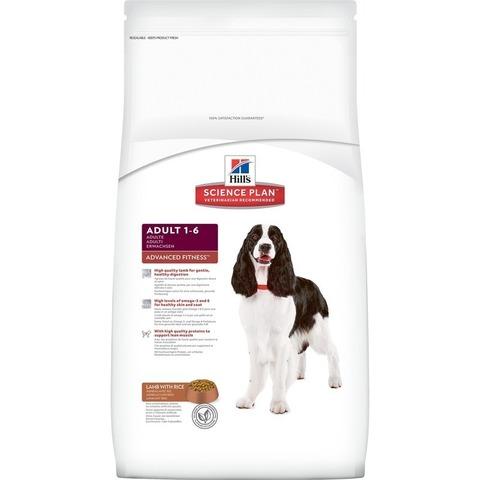 Hill's Science Plan сухой корм для собак средних пород, ягненок+рис Advanced Fitness