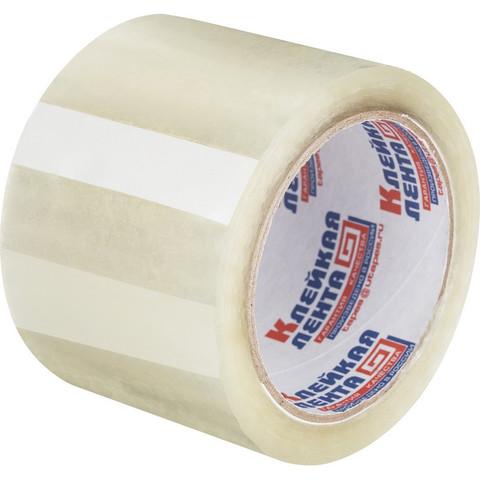 Скотч клейкая лента упаковочная прозрачная 75 мм x 66 м толщина 47 мкм
