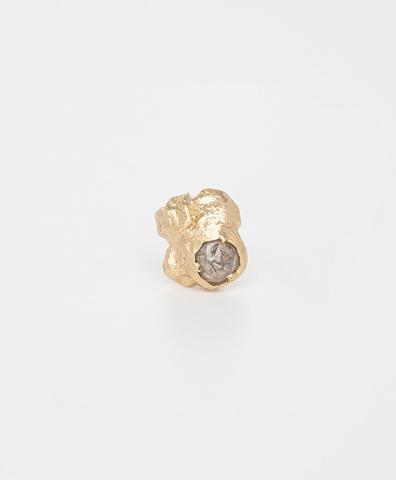 Моно-серьга Diamond Rain gold (XS)
