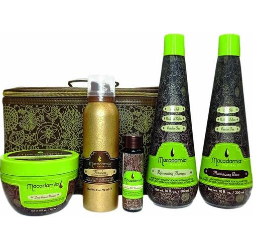 Macadamia Natural Oil: Набор ХИТЫ 1 (шампунь+кондиционер+маска+масло+крем-мусс), 300мл+ 300мл+ 236мл+ 30мл+ 90мл