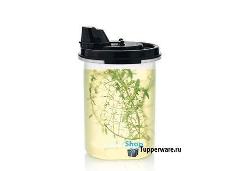 Компактус круглый для масла и соусов (440 мл) с чёрной крышкой рис.3
