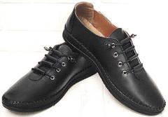 Кэжуал стиль мокасины кеды женские EVA collection 151 Black.