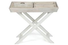 Столик складной с подносом Secret De Maison Ривьера (RIVIERA) ( mod.2351 ) — Antique white/white wash