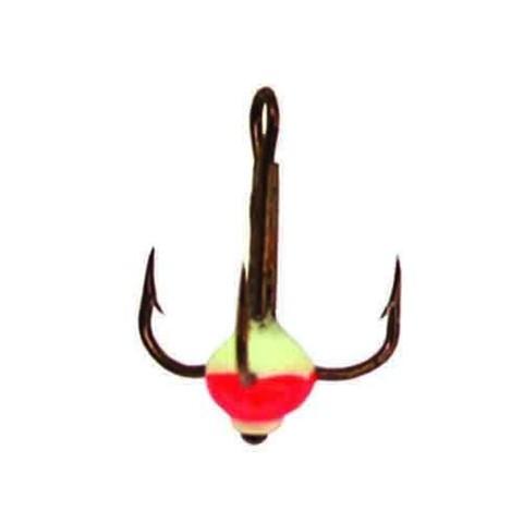 Крючок-тройник с каплей Lucky John, размер №12, цвет 02