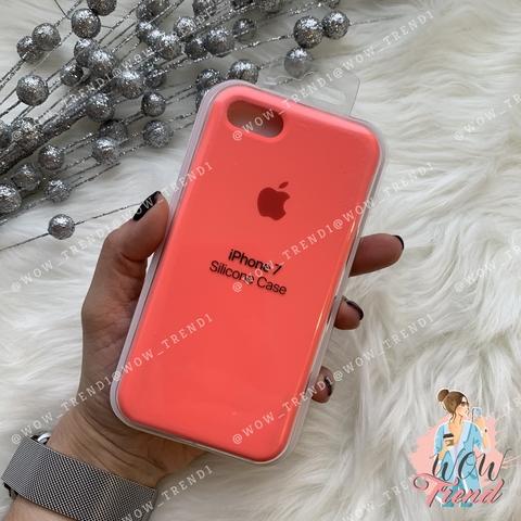 Чехол iPhone 7/8 Silicone Case /coral/ коралл 1:1