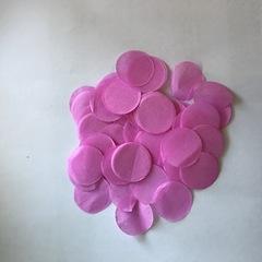 Конфетти тишью, Круги, Розовый, 1,5 см, 25гр.