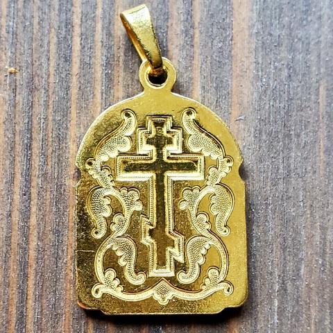 Нательная именная икона святой Игорь с позолотой