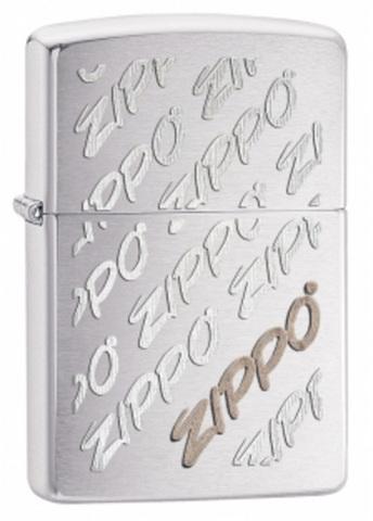 Зажигалка Zippo Classic, латунь с покрытием Brushed Chrome, серебристый, матовая, 36х12x56 мм