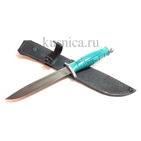 Нож HP-43 Вишня Коваль, сталь Булат, рукоять стабилизированная карельская береза