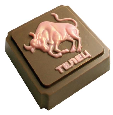 Пластиковая форма для шоколада ЗНАК ЗОДИАКА ТЕЛЕЦ (65х65мм)