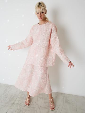 Блуза изо льна Леопард розовый