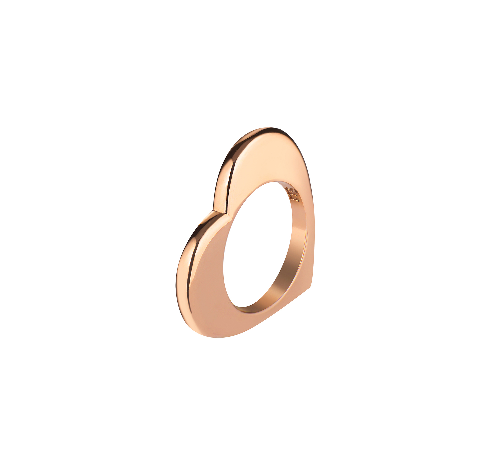 Кольцо из серебра 925 пробы и покрыто розовой позолотой
