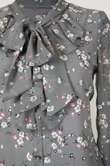 Блузка Gracjia Богуся жабо цветочки