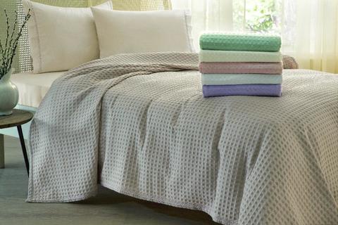 Покрывало вафельное пике 2-спальное Tivolyo home MODESTO 200х220 см розовое