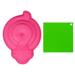 Набор из силикона 2 предмета (форма для выпечки «Змея», подставка)