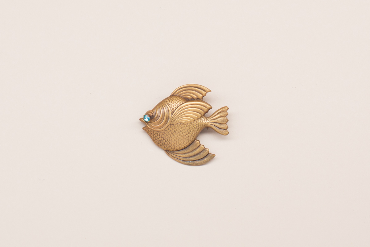 Elegant fish brooch by Joseff of Hollywood