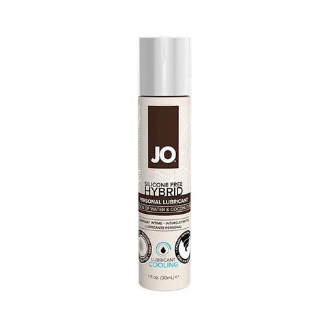 JO SILIKONE-FREE HYBRID LUBRICANT COCONUT COOLING, 30 ml Лубрикант- ГИБРИД водно-кокосовый с охлаждающим эффектом