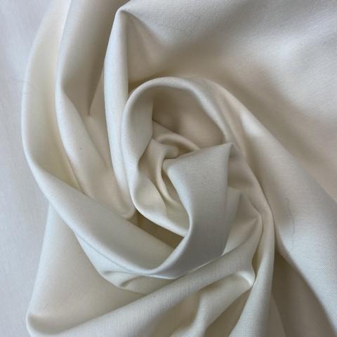 Ткань хлопок сатин светло бежевого цвета 2027