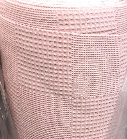 Полотно вафельное. Нежно-розовый. (100% хлопок).