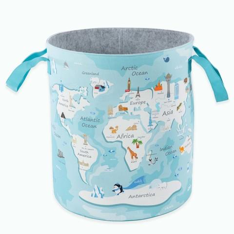 Детская корзина для игрушек синяя-белая 35*114*46 см (принт 209-03) Adili