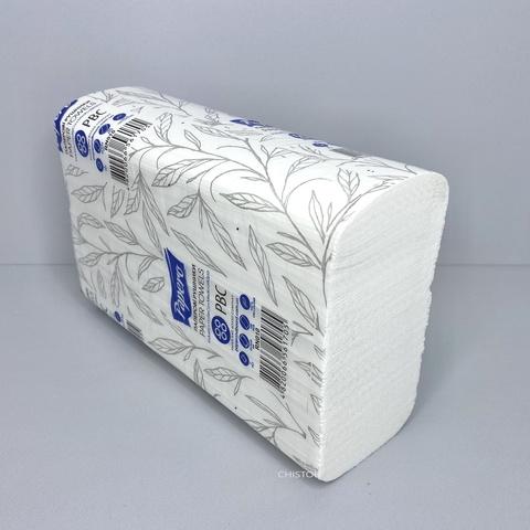 Полотенце бумажное листовое Papero Z сложения 2сл. 225х220 мм (160 л.) белое (RN010)