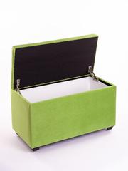 Пф-800-Я Пуфик квадратный (салатовый) с ящиком для хранения