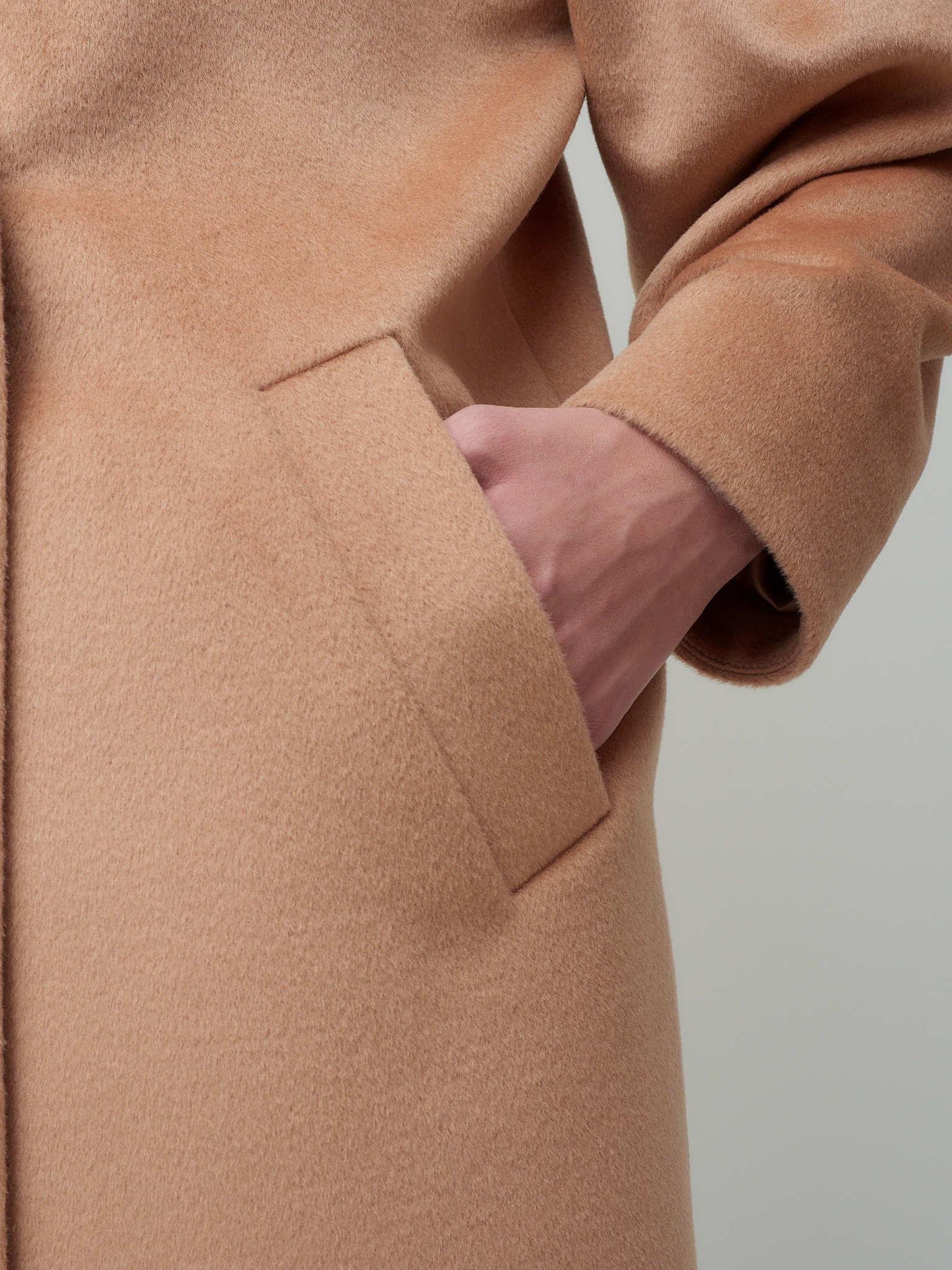 Пальто укороченное с объемным рукавом