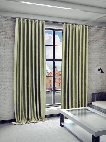 Готовые шторы Жульет зеленый