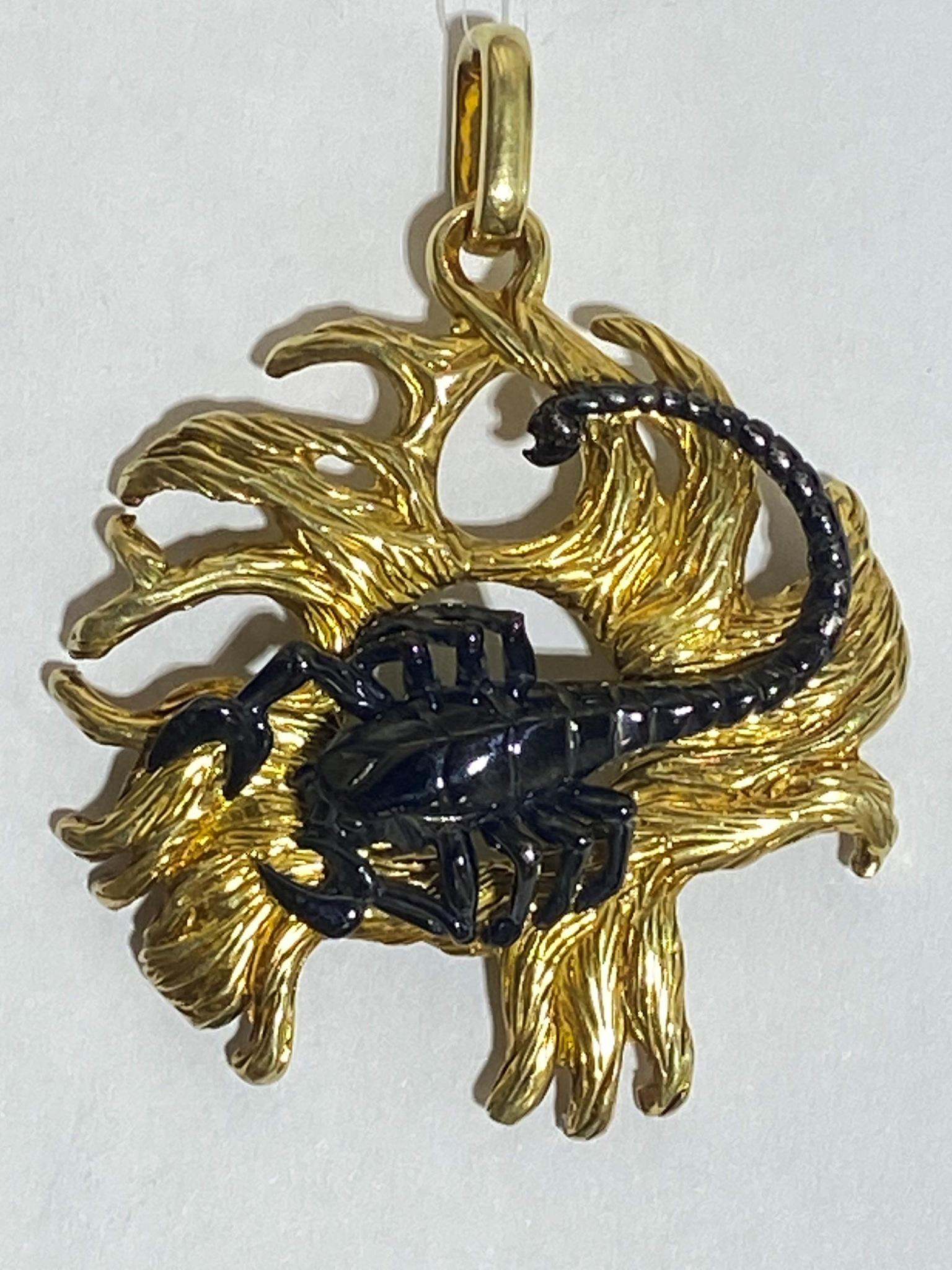 Скорпион (кулон из серебра)
