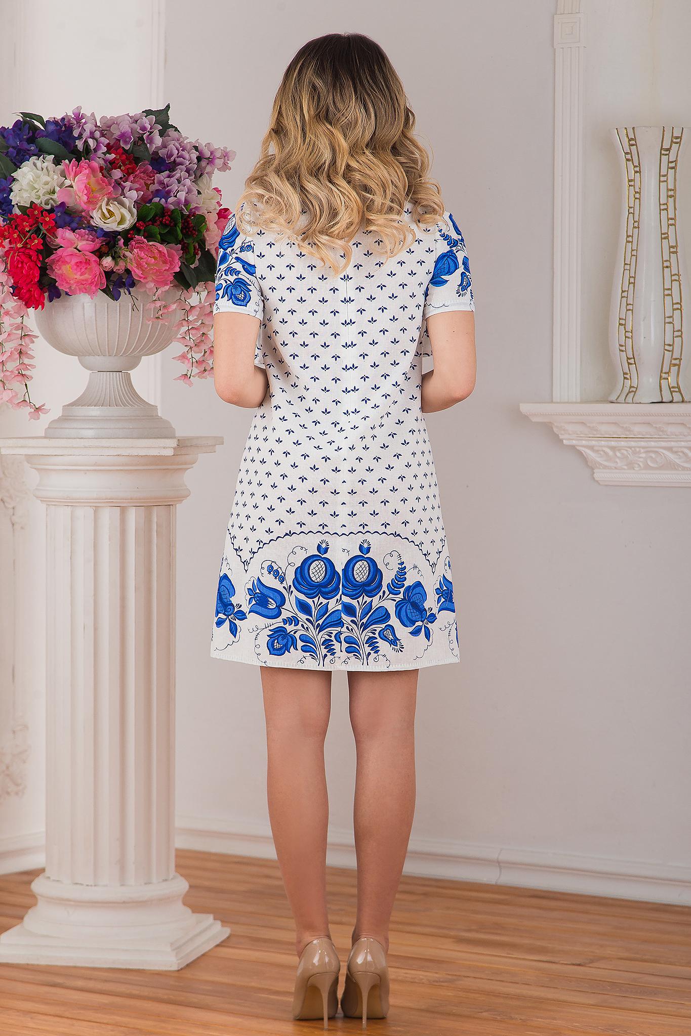 Платье льняное Забава вид сзади