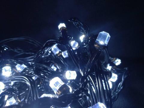 Штора-гірлянда Кришталь 300 LED E 3 на 1.5 м. синя