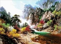 Картина раскраска по номерам 50x65 Яркие краски природы