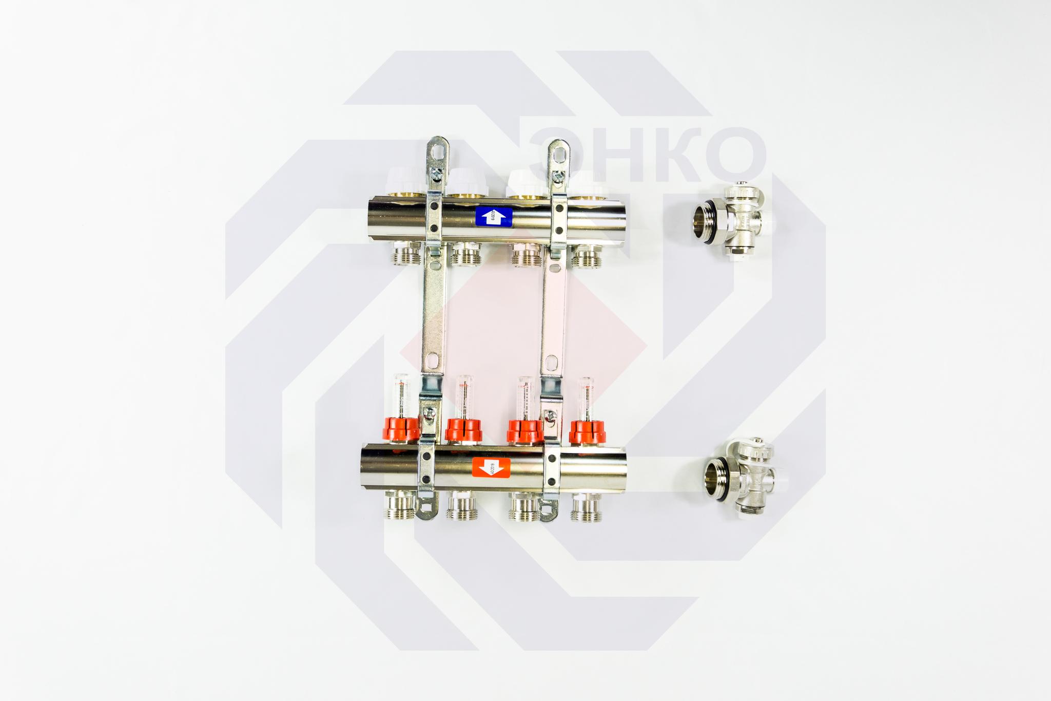 Комплект коллекторов с расходомерами ITAP 916C 4 контура