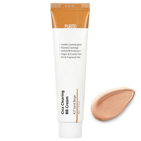 BB-крем c экстрактом центеллы 27 тон Purito Cica Clearing BB cream