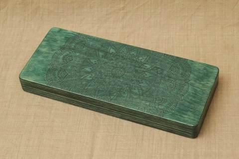 Доска с гвоздями Sadhuboard Зеленая волна складная