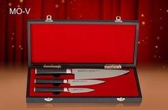 SM-0220/16 Набор из 3 ножей в подарочной коробке Поварская тройка Samura Mo-V