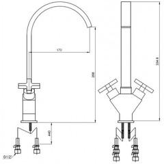 Смеситель KAISER Crystal 28033 для кухни схема
