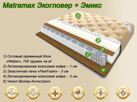 Матрас Матрамакс Экогловер + Эмикс купить недорого от Megapolis-matras.ru